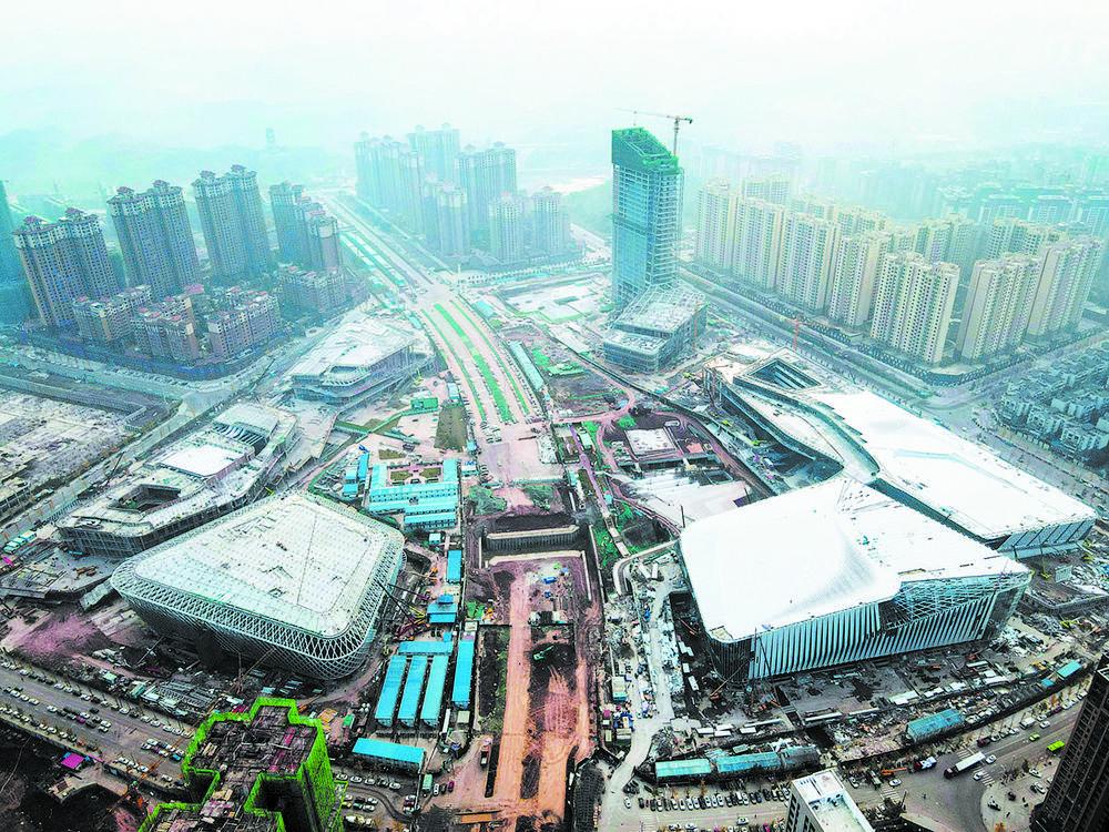 """简阳""""东来印象""""文体中心场馆群,大运会后将惠及全民 图片由简阳市提供"""