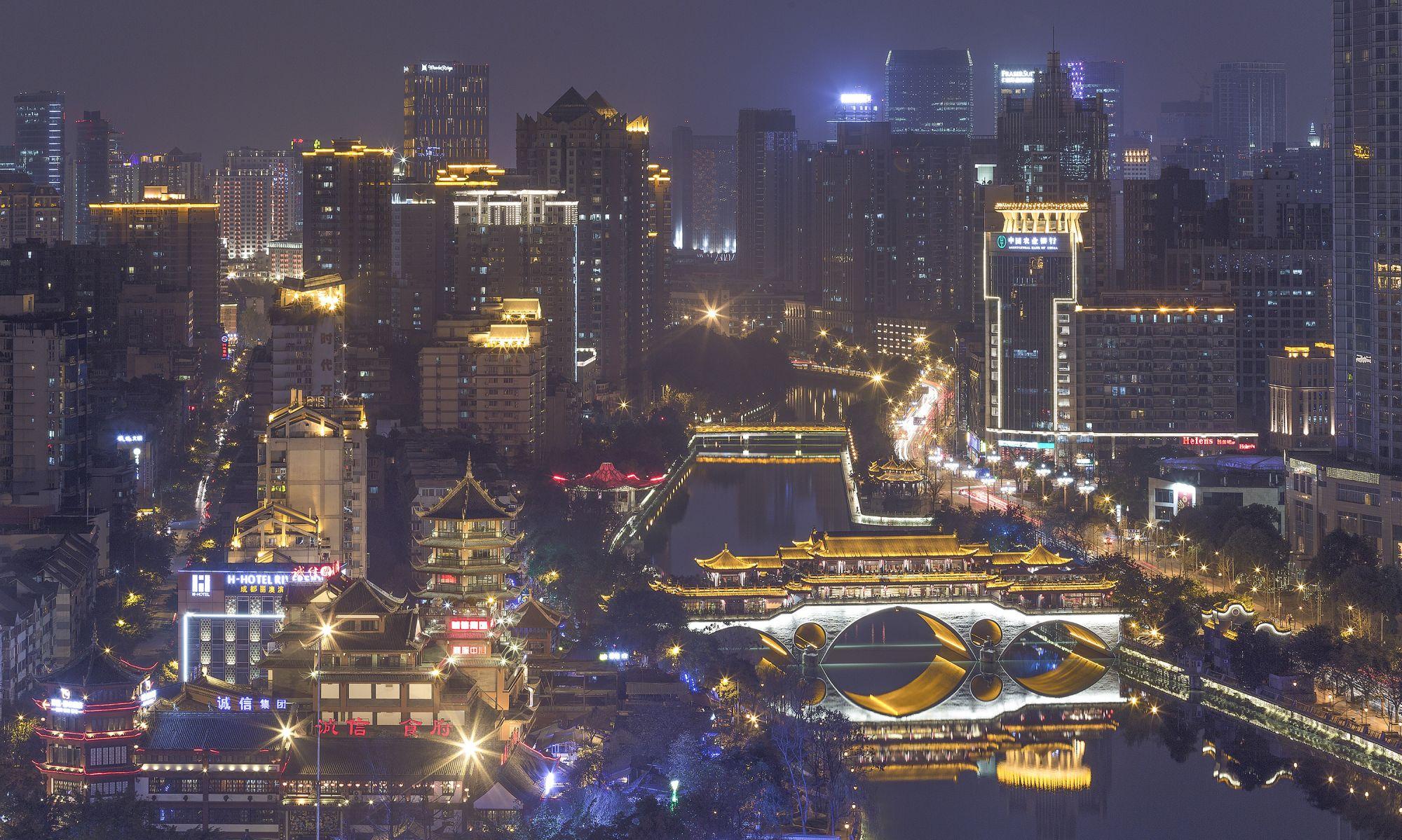 成都城市夜景图片(蒋坤鹏摄) (3)