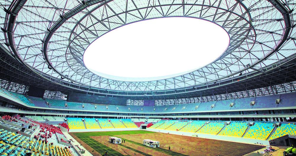 成都大运会场馆之一,凤凰山体育公园专业足球场 本报资料图片